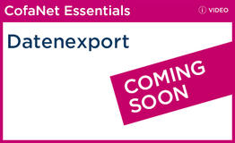 Datenexport in CofaNet Essentials