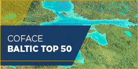 Coface Baltic Top 50 - 2019 - map of region