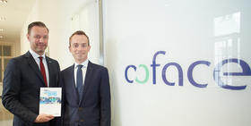 Christian Berger Country Manager Coface und Grzegorz Sielewicz Economist Coface Central Europe